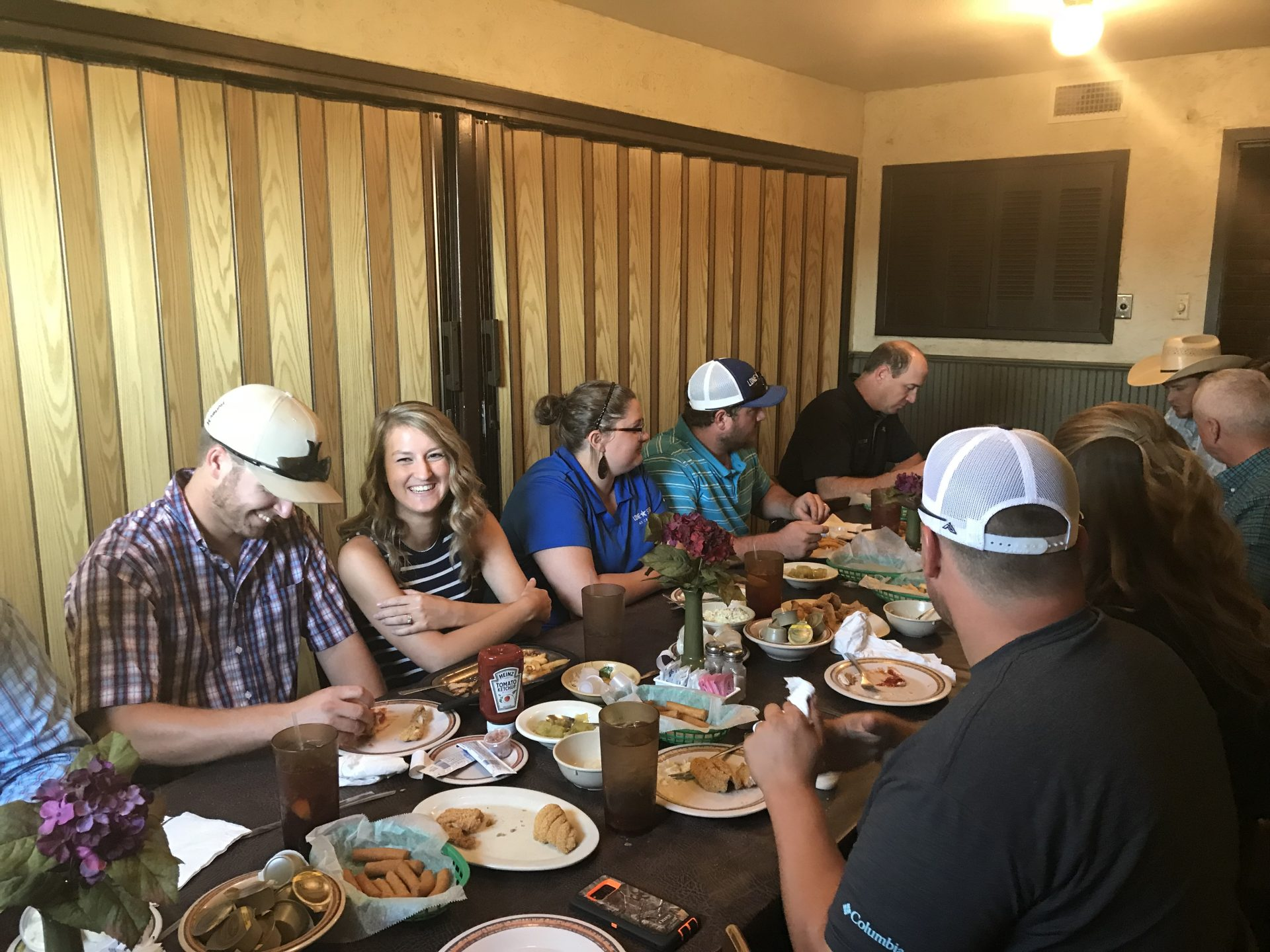 Lone Star Ag Credit, Paris office hosting lunch.