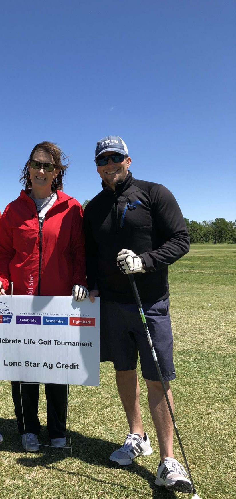 Lone Star Ag Credit, Stephenville Office President, Gerrit Schouten, at a golf tournament.