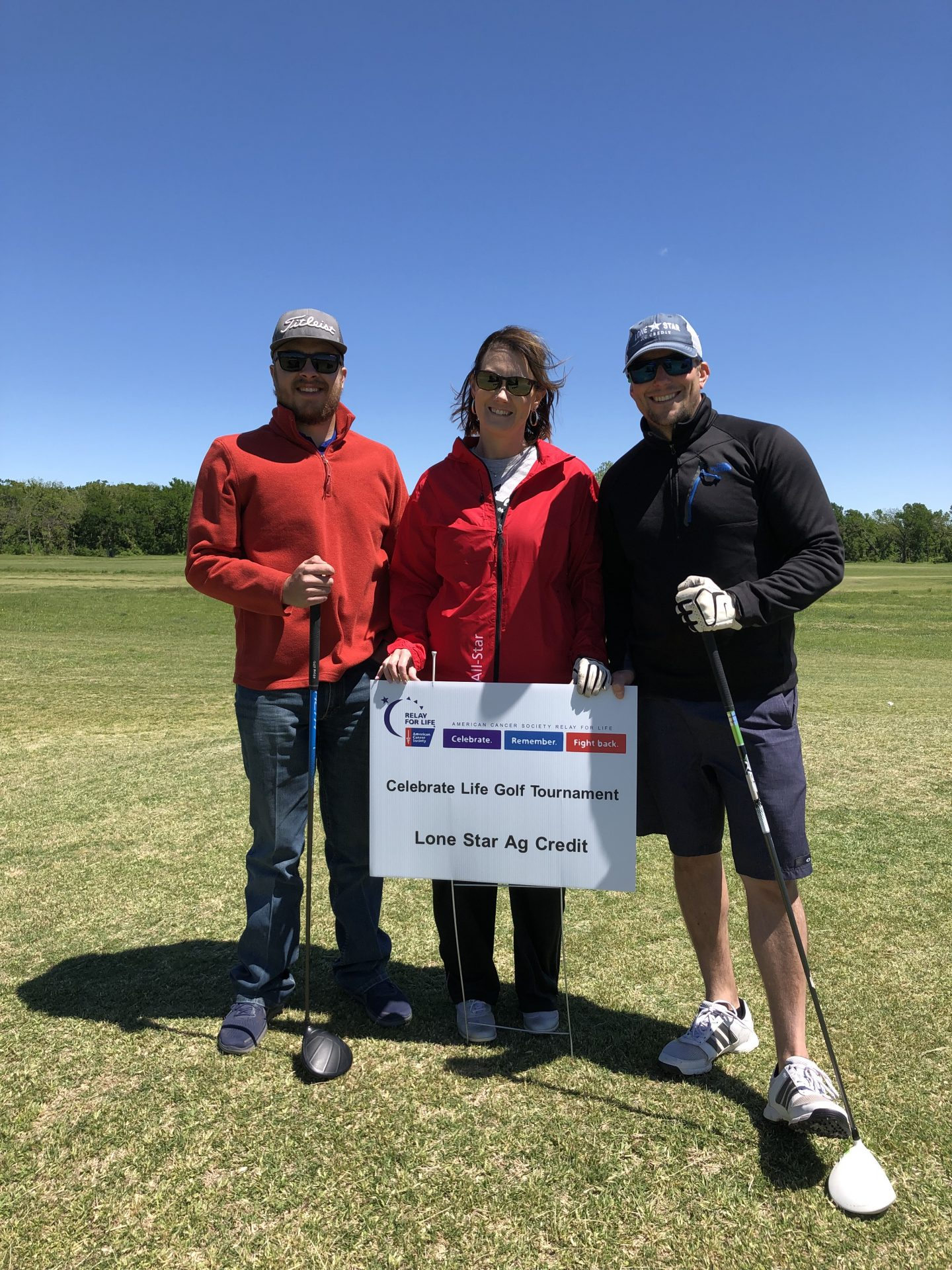 Stephenville staff at golf tournament