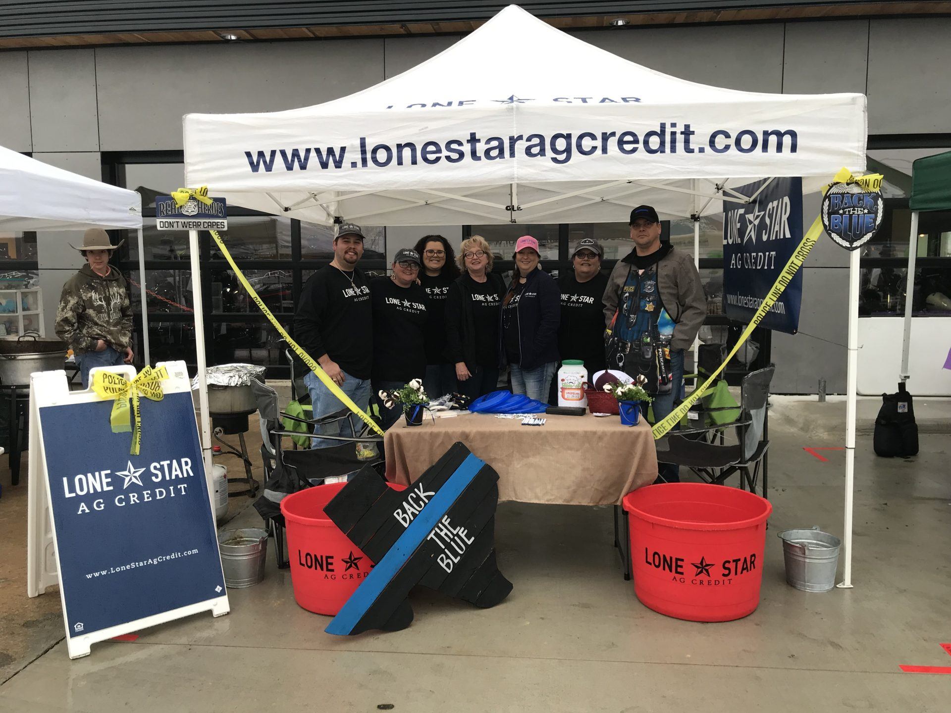 Lone Star Ag Credit, Paris office employees at a local chili cook-off event.