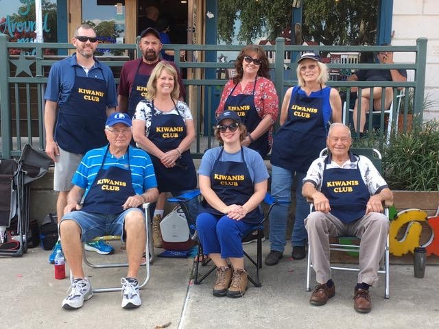 Lone Star Ag Credit Lampasas office loan officer Jennifer White, with members of the Kiwanis Club.
