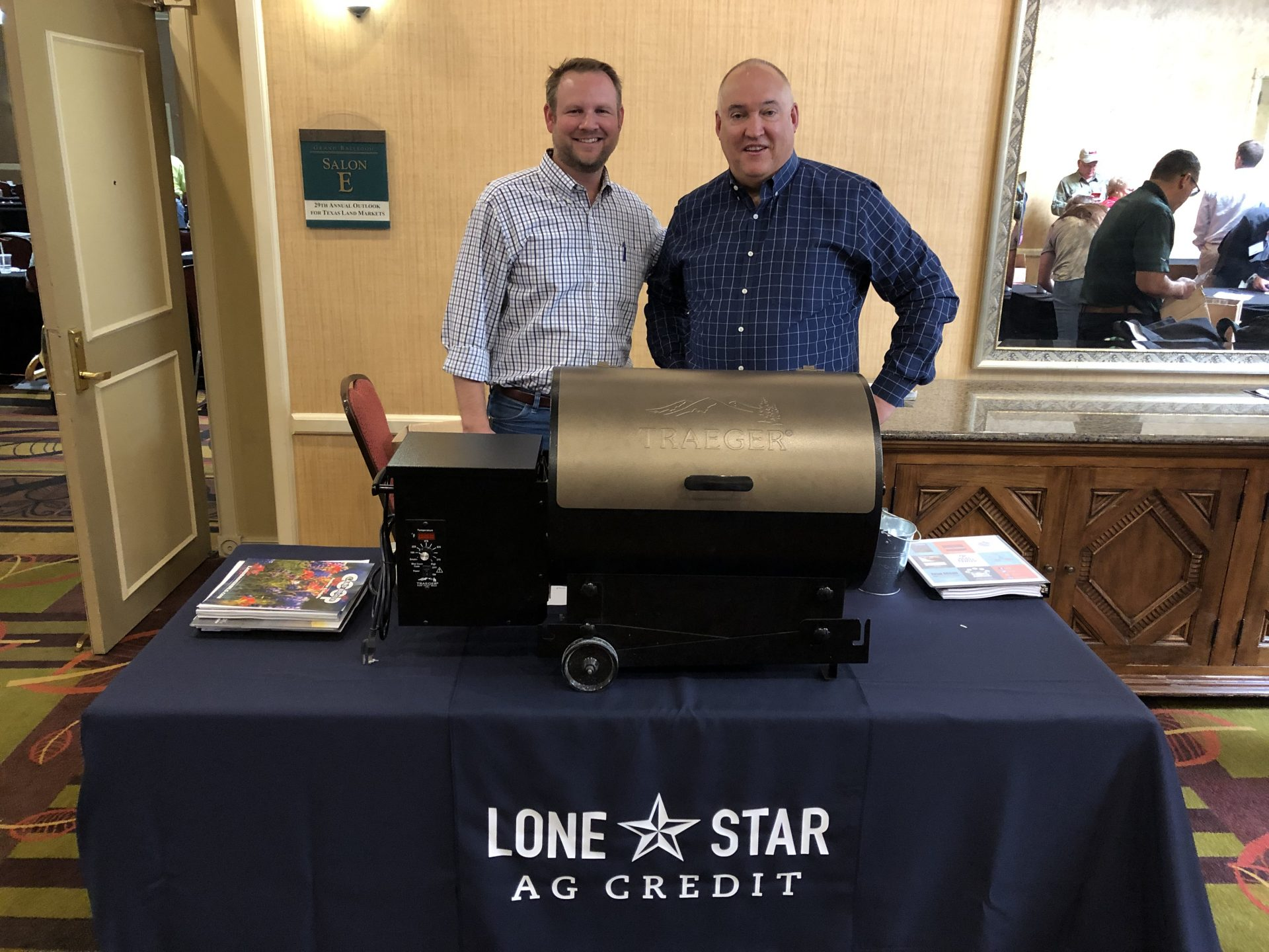 Lone Star Ag Credit Georgetown office Vice President Lending Nathan Winstead at Land Conference booth.