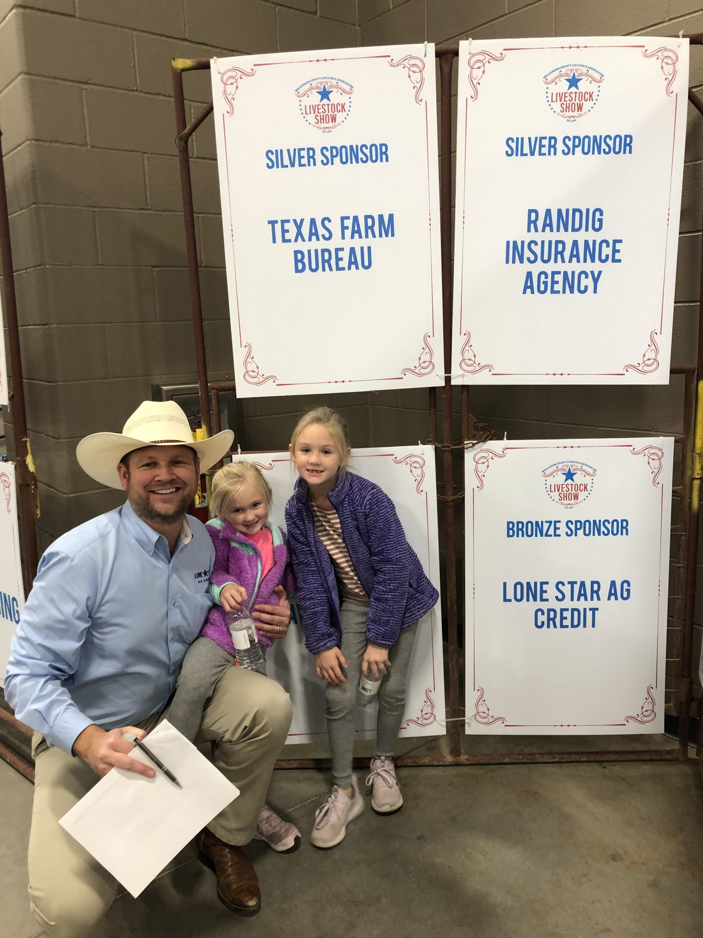 Lone Star Ag Credit Georgetown office Vice President Lending, Nathan Winstead at a Livestock Show..
