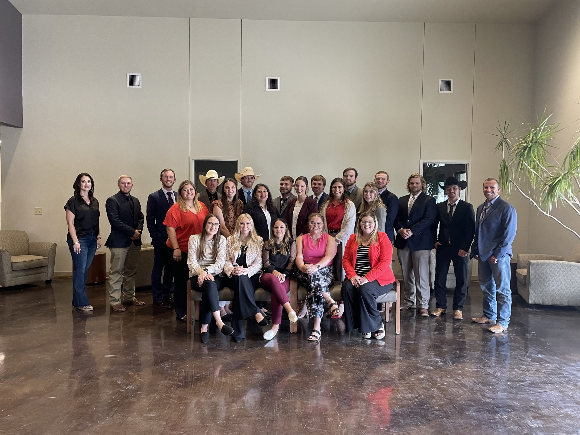Gerrit Schouten and Shelley Gilliland, Lone Star Ag Credit, with Tarleton State University ag students.
