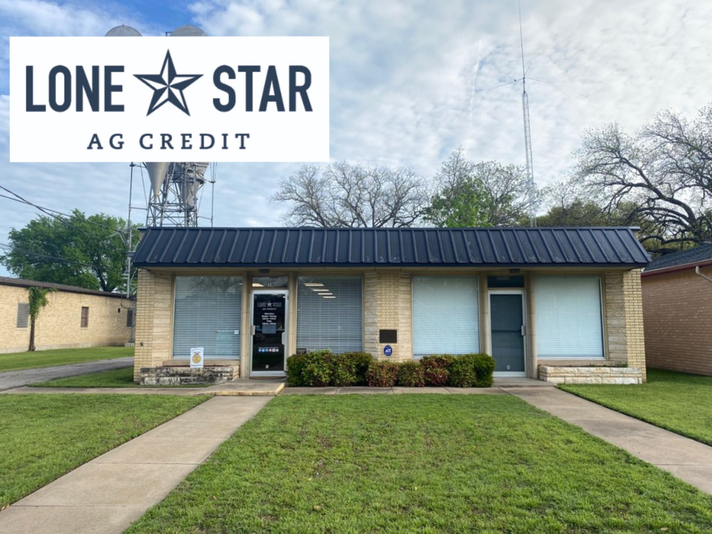 Lone Star Ag Credit office in Hillsboro, Texas, providing loans for farm improvements.