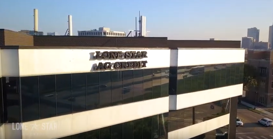 Lone Star Ag Credit headquarters building. Former sign.