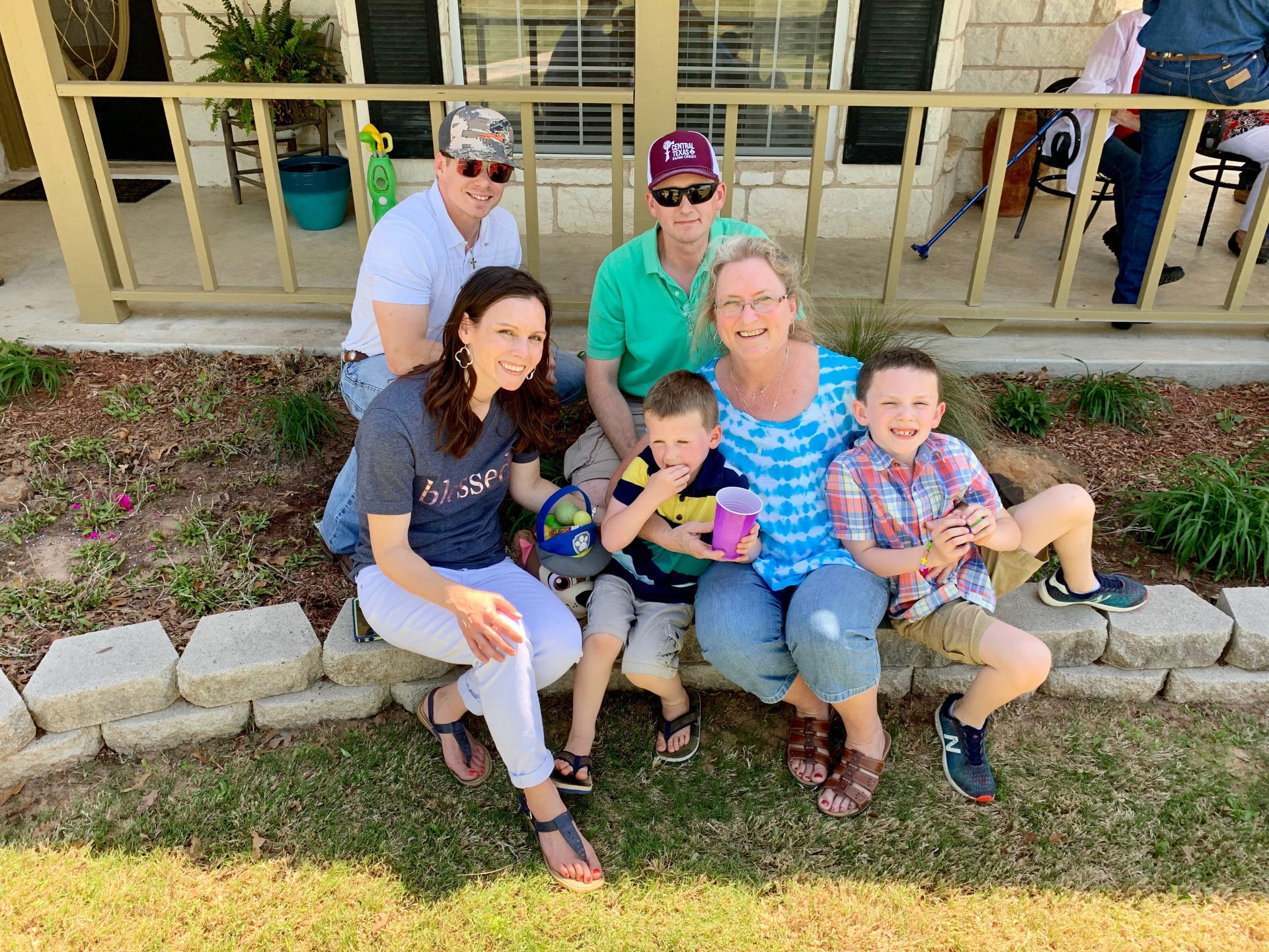 Lone Star Ag Credit's Director of Loan Accounting and Operations, Janet Mathis and her son who is a Sr. Loan Officer at Lone Star Ag Credit Walker Dailey with their family.